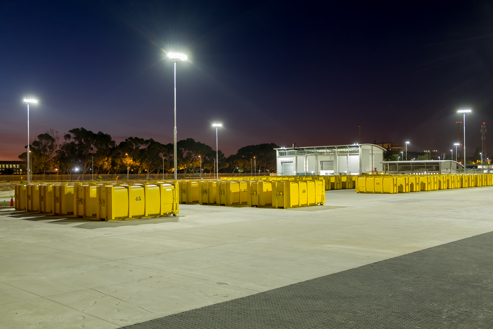 Belville Waste Management Facilities industrial and floodlighting solution