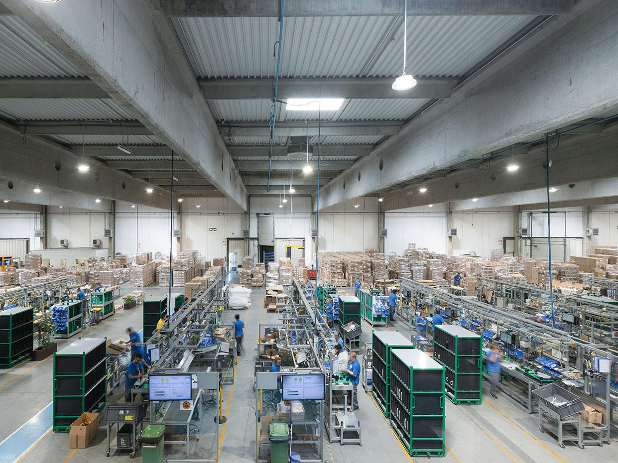 Schréder industry lighting solutions help companies boost people and productivity