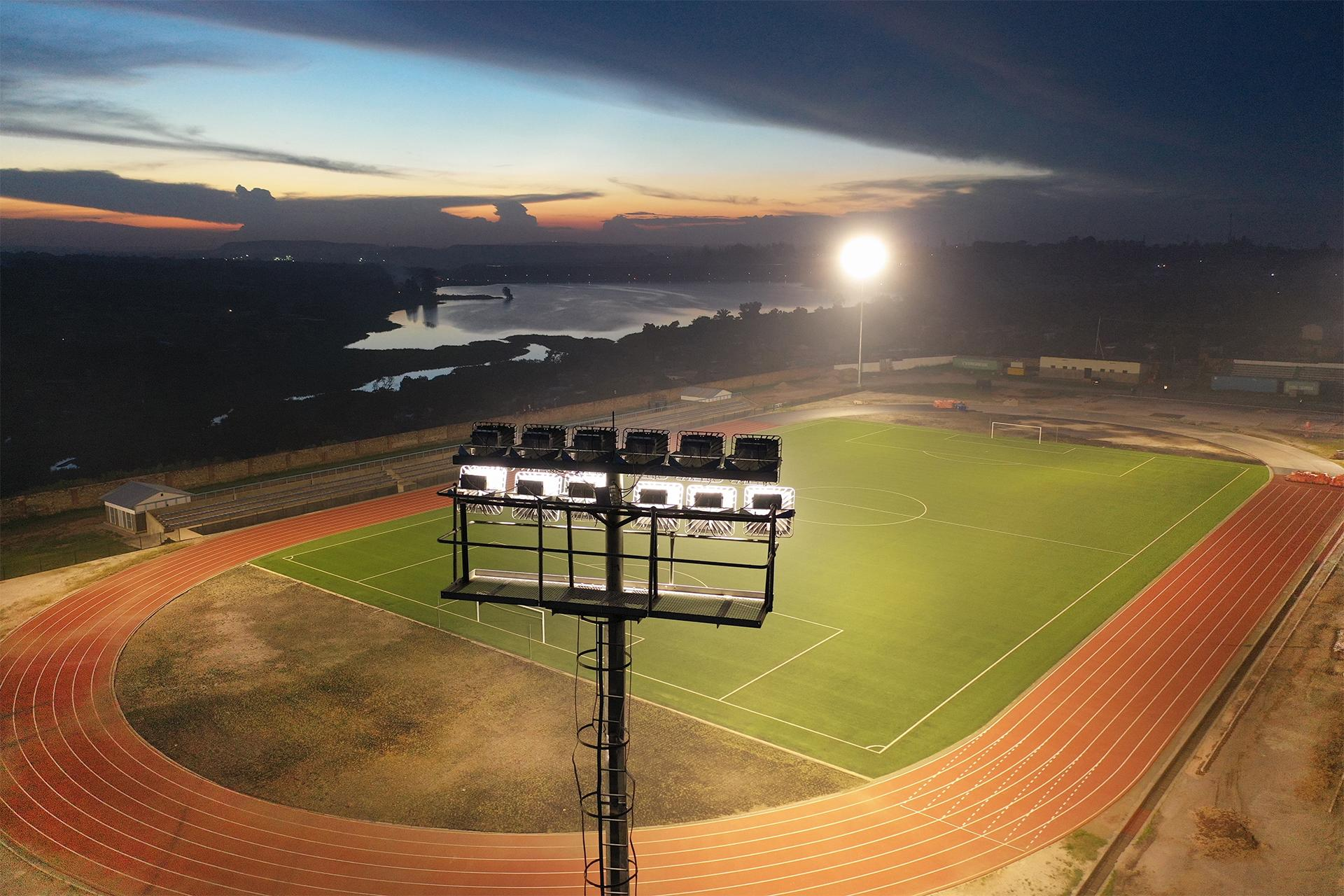 First LED Stadium Lighting Installation in the DRC